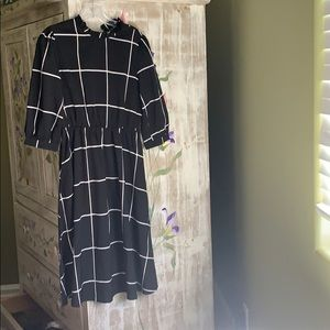 Black and white Anthropologie inspired dress